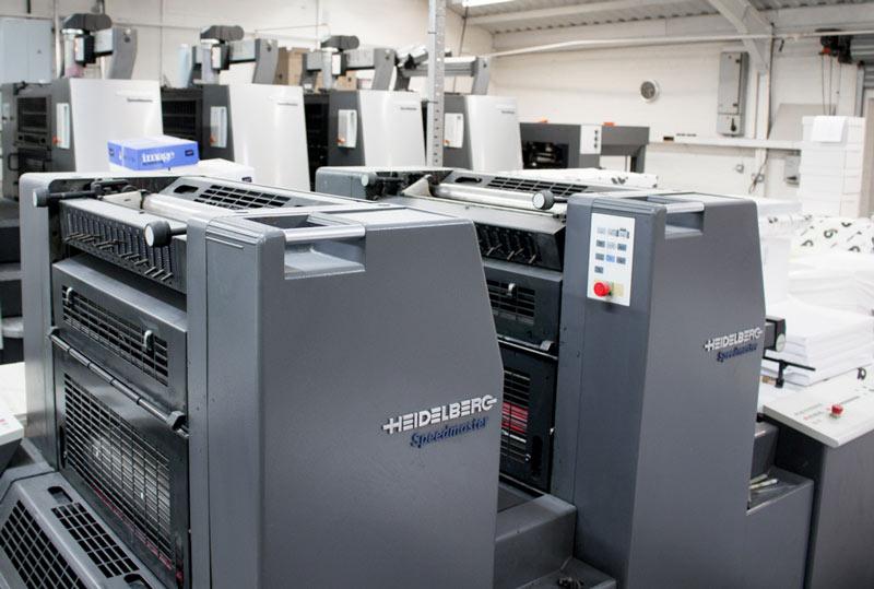 Heidelberg 2 colour press, cheap mono printing service UK