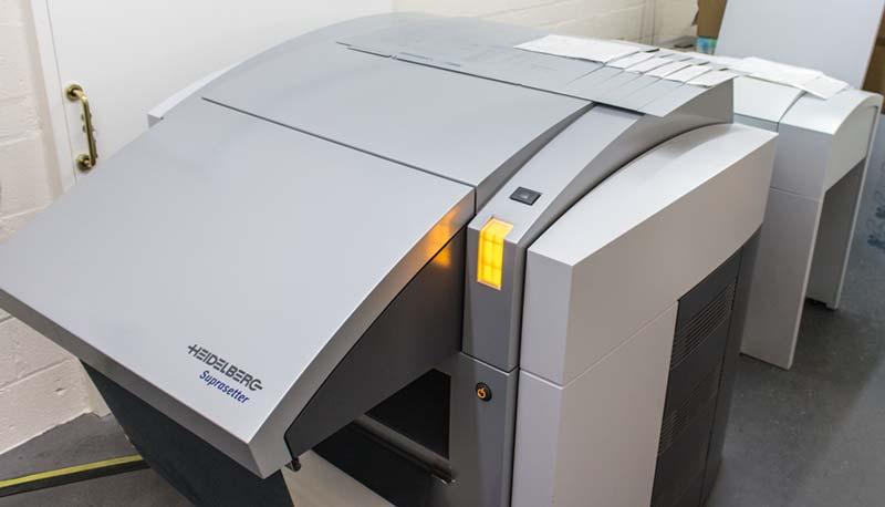Heidelberg platemaker, chemical free printing UK