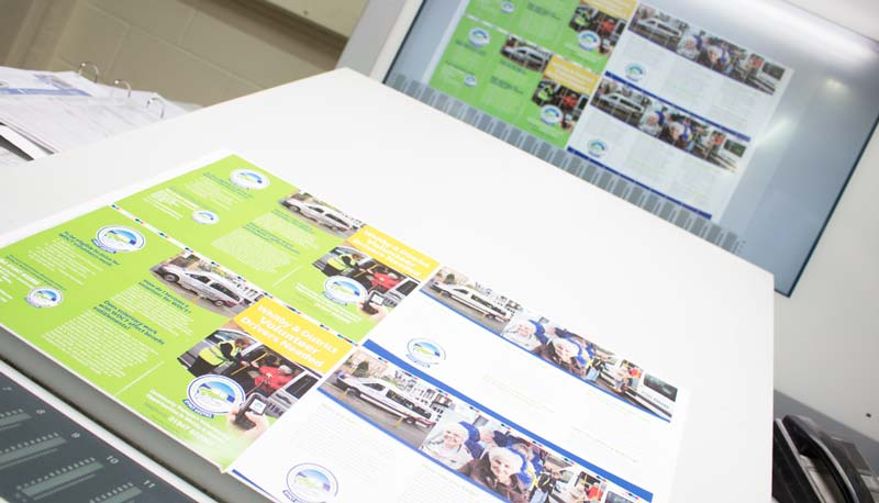 Digitally controlled litho printing, long run leaflets