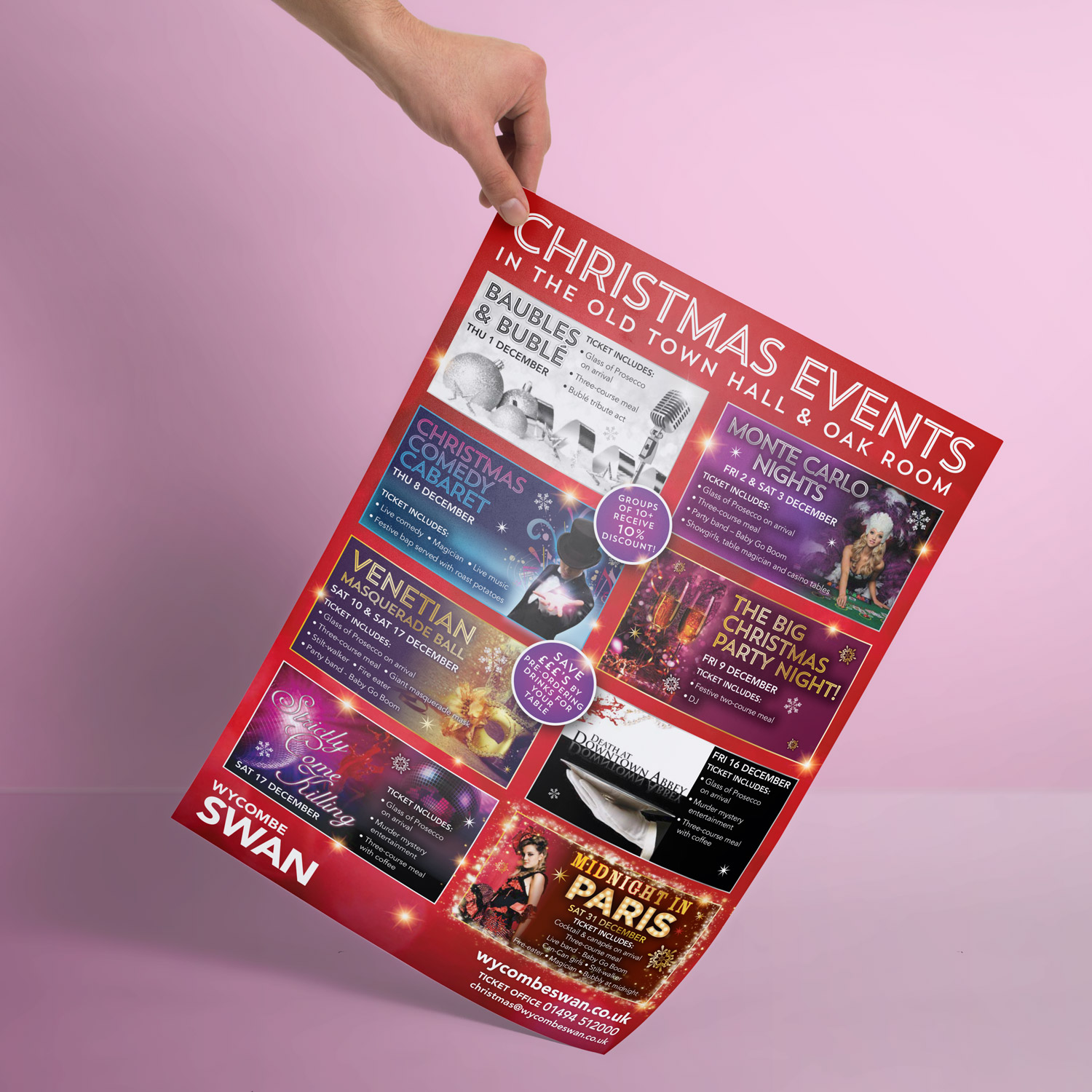 Christmas events promotion poster printing