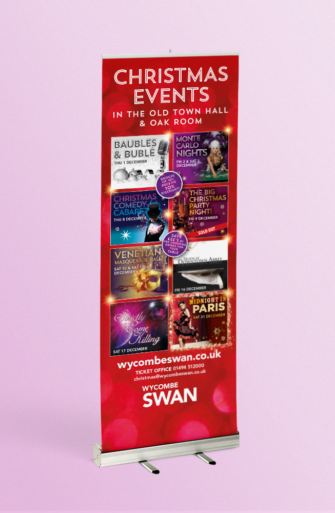 Christmas events promotion large format printing