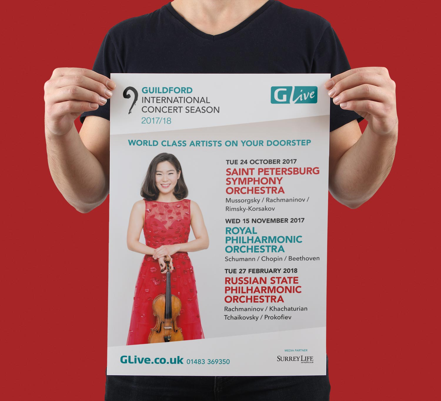 Our Work View Our Digital Print Web Projects: G Live Guildford International Concert Season 2017/18