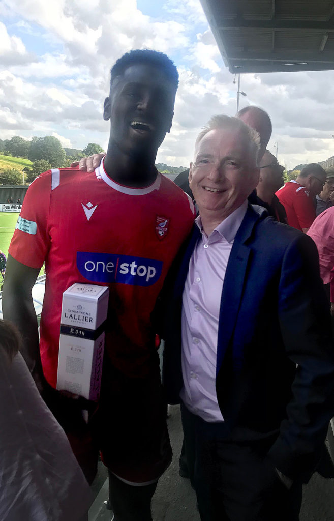 John Easby with Isaac Assenso on match day @SAFC