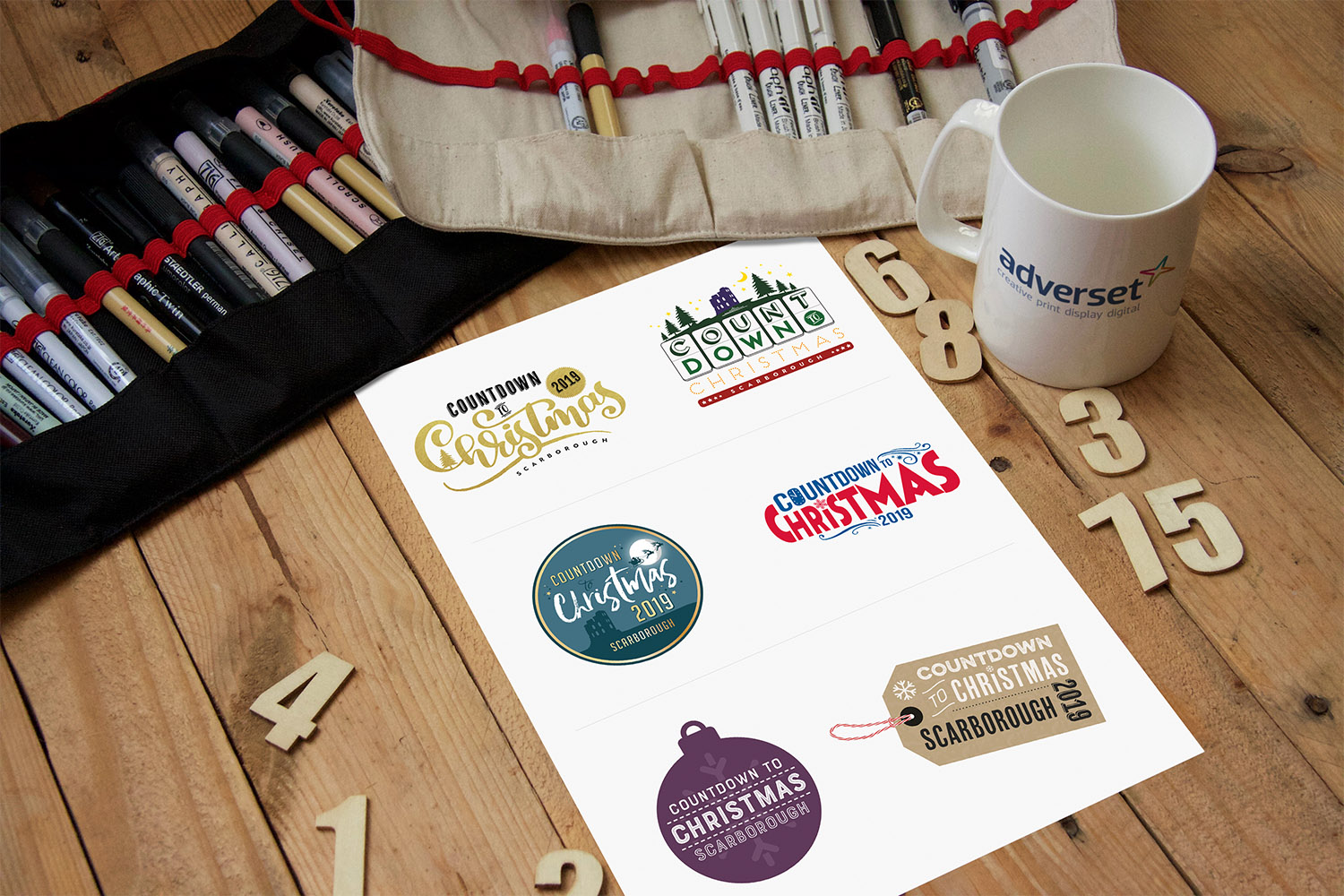 Counting Down to Christmas Scarborough Logo Proposals