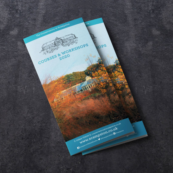 The Conservatory at Scampston - Courses & Workshops A4 Leaflet