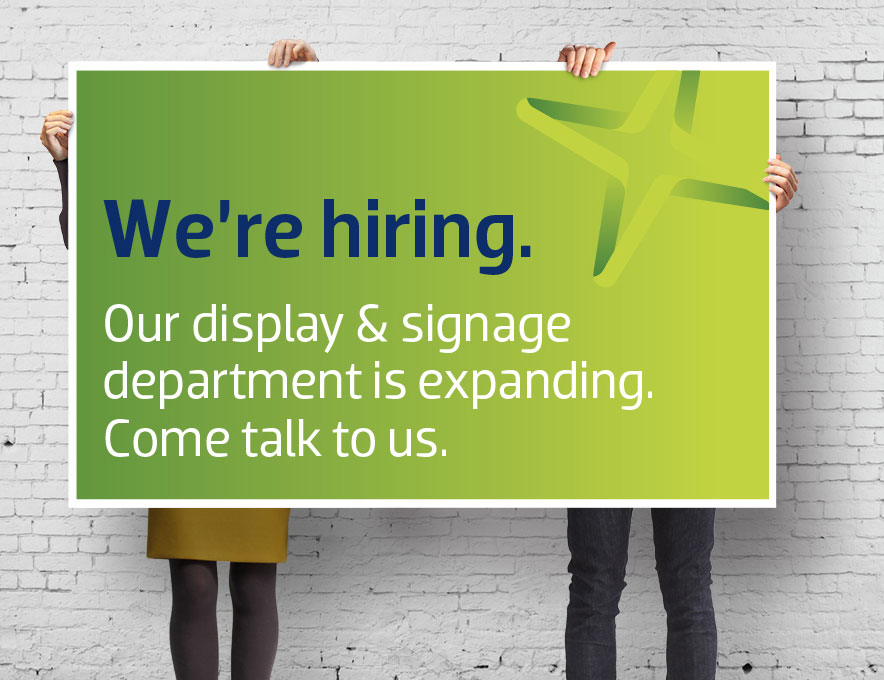 Signage and Display Sales person opportunity